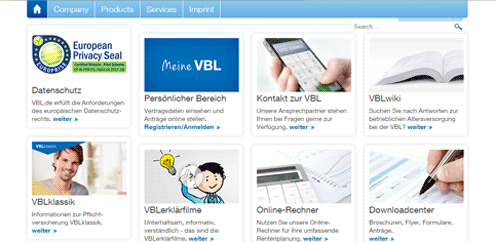 www.vbl.de Website Certification