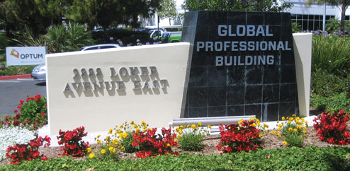 Global Professional Building Entrance
